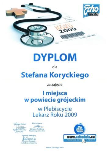 Lekarz Roku 2009 - Gala